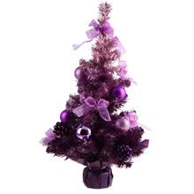 Елка настольная  фиолетовая, со снегом