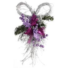 Новогоднее  украшение  -Бантик, фиолетовый