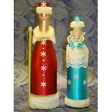 Шампанское Дед Мороз и Снегурочка, Н000017 (ПОД ЗАКАЗ)