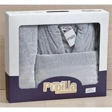 Набор банный халат и 2 полотенца арт.PR-hlt014-2