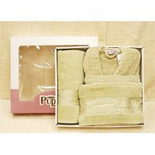 Набор банный халат+ 2 полотенца арт.PR-hlt014-6
