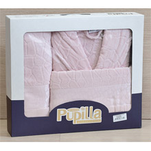 Набор банный халат+полотенце арт.PR-hlt014-12