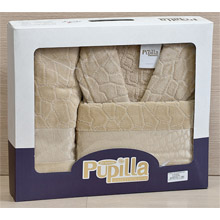 Набор банный халат+полотенце арт.PR-hlt014-8
