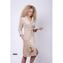 Халат женский, махра+велюр арт.PR-hlt9980-1