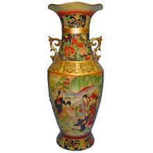 Ваза керамическая в китайском стиле, h-61см N11091