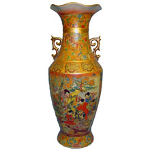 Ваза керамическая в китайском стиле, h-61см N11094