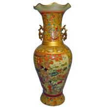 Ваза керамическая в китайском стиле, h-61см N11104