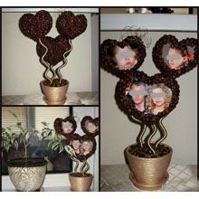 Авторская композиция из трёх сердечек с Вашими фото, N00041