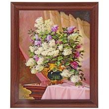 Картина в рамке Сиреневый букет   размер  40 x 50 см