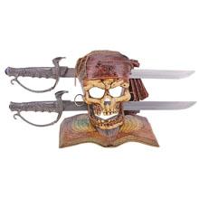 Сувенирный меч на подставке в виде черепа пирата, SL543274