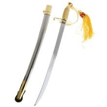 Сувенирное изделие сабля, рукоять в виде спирали, под золото, бе