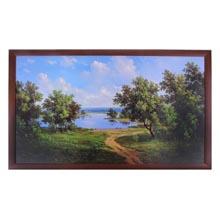 Картина в рамке Дорога к водоему  размер 100 x 60 см